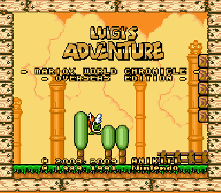 Screenshot Thumbnail / Media File 1 for Super Mario World (USA) [Hack by Anikiti v1.1] (~Luigi's Adventure - Overseas Edition)